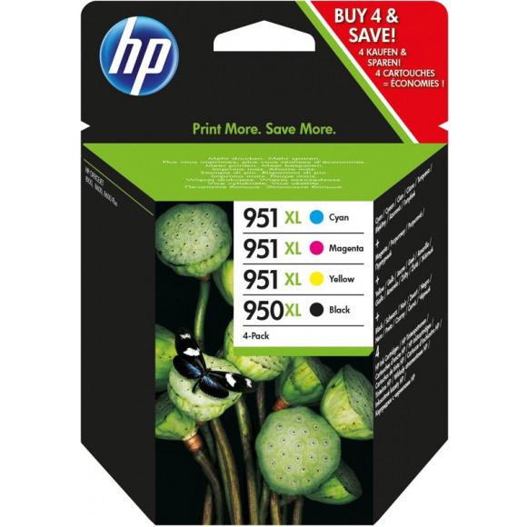 HP Cartouche 350XL/951XL Noir + Tricouleur Plusieurs