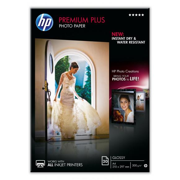 HP Papier Photo 300G/M² Premium Glossy I A4 20 Feuilles