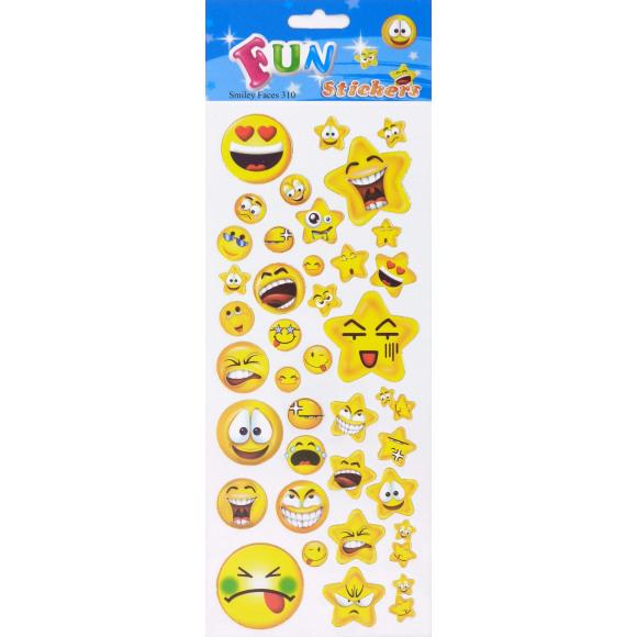AVA selection Fun Stickers Smiley Faces