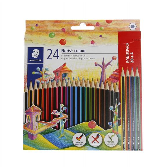 STAEDTLER Noris Colour Crayons De Couleur 20+4 Pièces