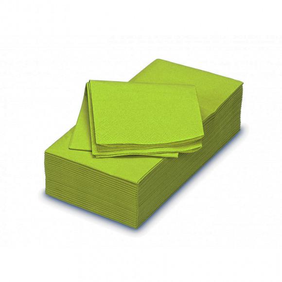 FIESTA Serviette Déjeuner Green Tea Uni En Papier Rectangulaire 50 Pièces Vert