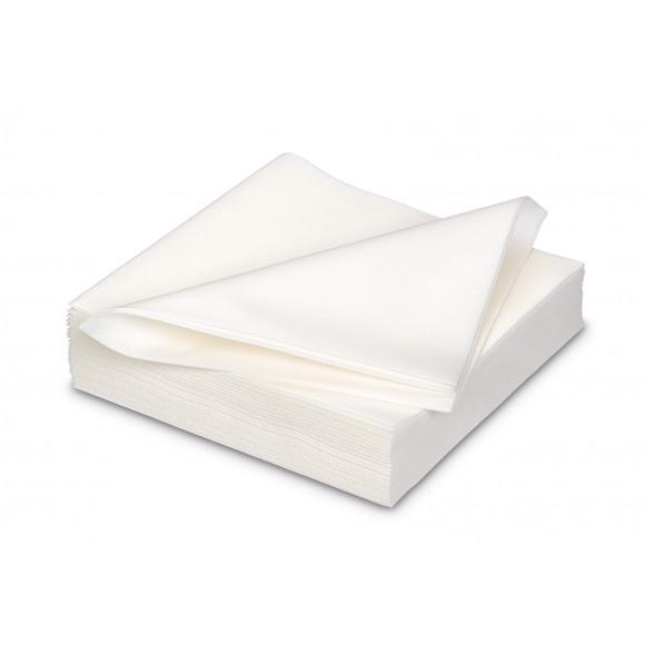 GALA Serviette Dîner Uni White Sensation De Lin 40x40cm 25 Pièces Blanc