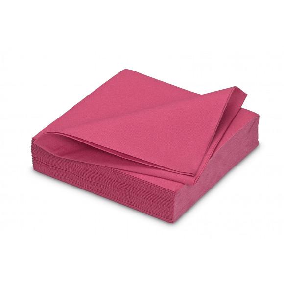 GALA Serviette Dîner Uni Framboise Sensation De Lin 40x40cm 25 Pièces Violet/rose