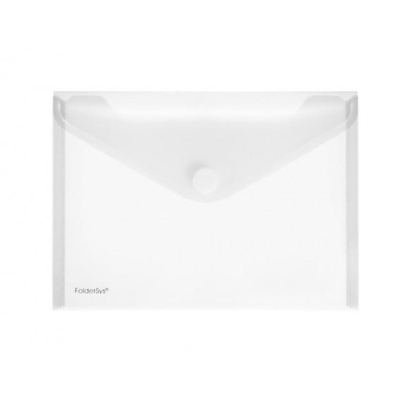 FOLDERSYS Enveloppe Transparent Avec Velcro A5