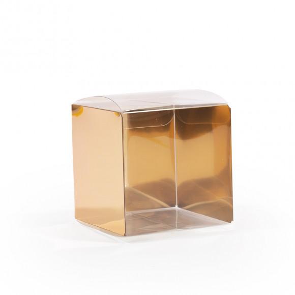 AVA selection Kubus Transparant + Rug Goud 5x5x5cm 12 Stuks Andere