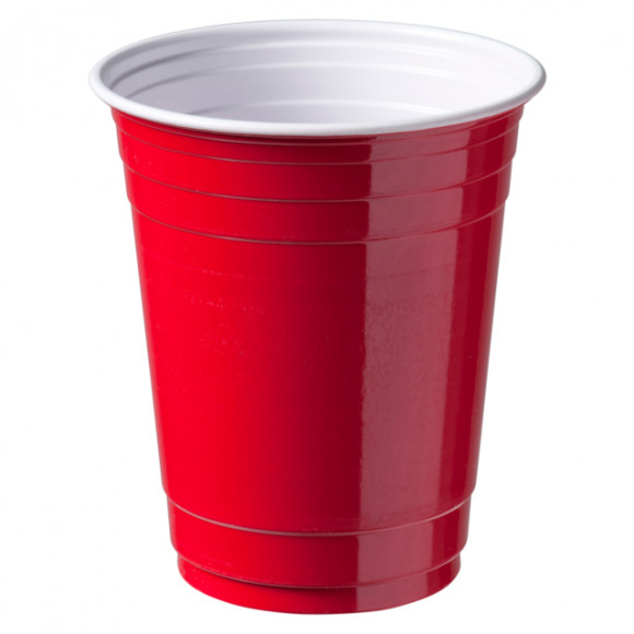 DEPA Drinkbeker Party Cup Rood 300Cc 12Oz Ps 50 Stuks Rood