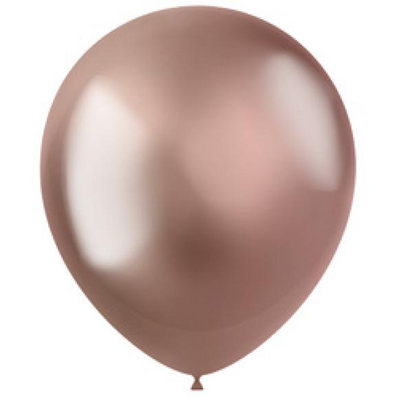 AVA selection Chromeballon Shiny Rose Gold Ø 33cm 10 Stuks
