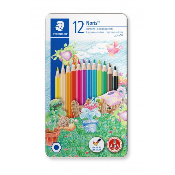 STAEDTLER Crayons De Couleur En Boîte Métal 12 Pièces