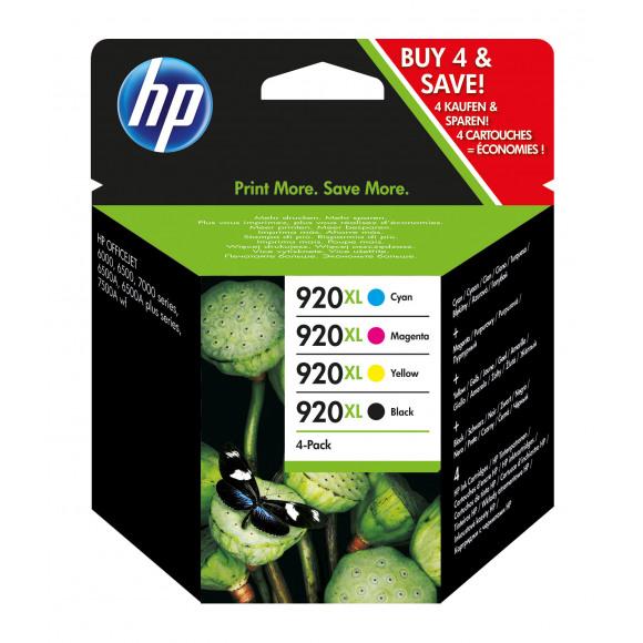 HP Cartouche 920XL Noir + Tricouleur Combopack Plusieurs