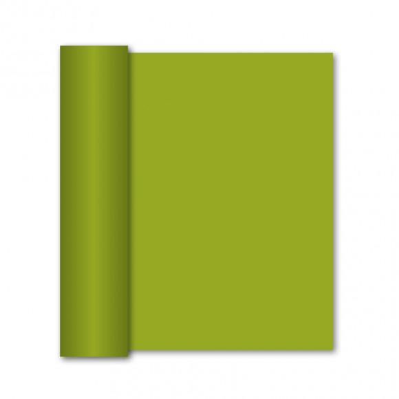 GALA Chemin De Table Uni Green Tea Sensation De Lin 10mx40cm Vert