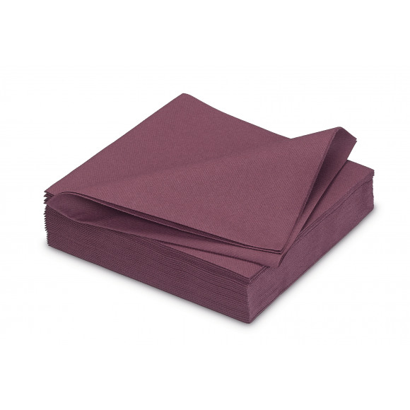 GALA Serviette Dîner Uni Prune Sensation De Lin 40x40cm 25 Pièces Violet/rose