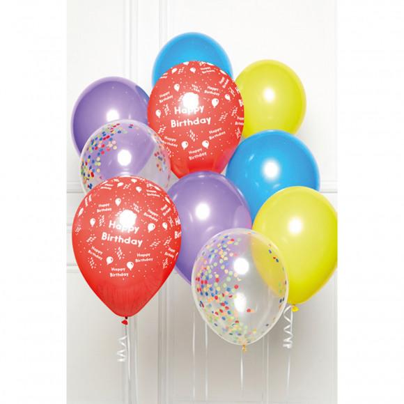 AVA selection DIY Ballonboeket Happy Birthday Rainbow (10 Ballonnen)