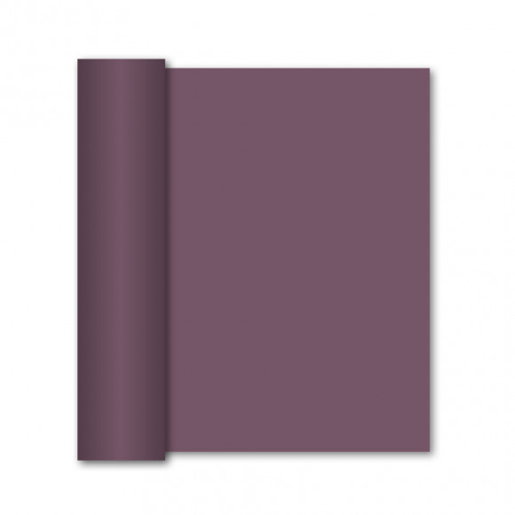 GALA Chemin De Table Uni Prune Sensation De Lin 10mx40cm Violet/rose