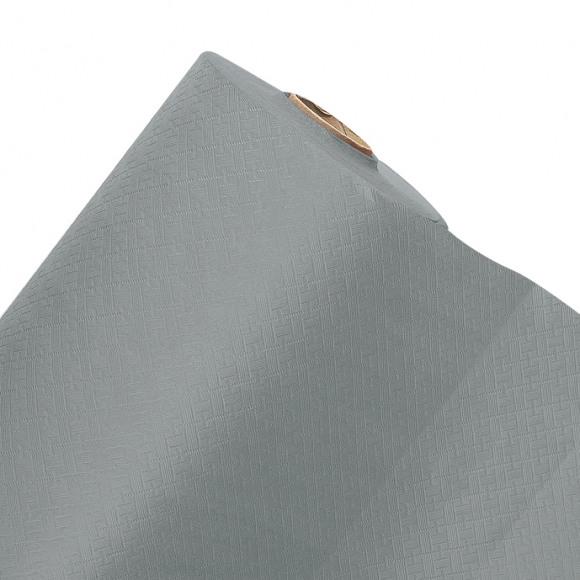 FIESTA Nappe En Rouleau Aluminium Uni En Papier 50mx120cm Noir/gris