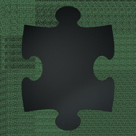 SECURIT Krijtbord Puzzle XXL 40x30cm 6 Stuks