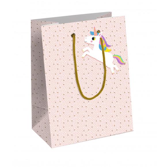 CLAIREFONTAINE Everyday Sachet Cadeau Rose Licorne 21,5x10,2x27,5cm Violet/rose