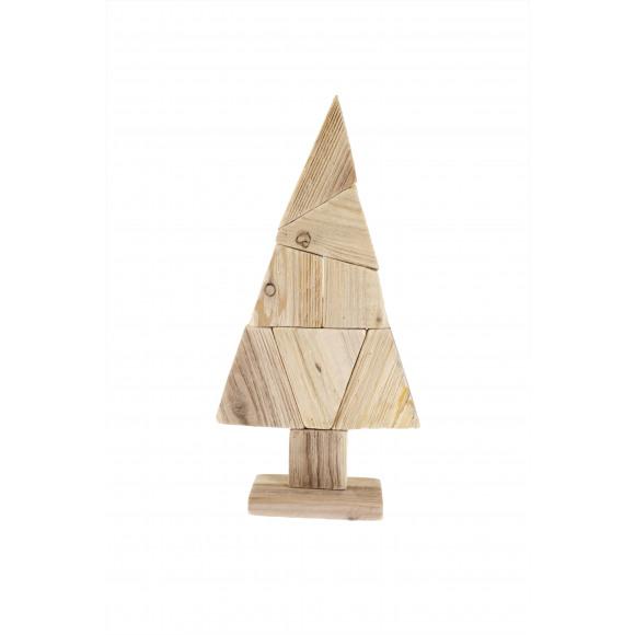 AVA selection Kerstboom Op Voet Hout 27x8,5x60cm Naturel Bruin