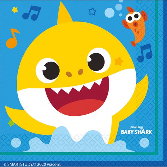 AVA selection Servetten Baby Shark 33x33cm 16 Stuks