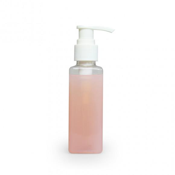 AVA selection Flesje Transparant Plastic + Wit Pompje 125ml 3,7x3,7x14cm Andere