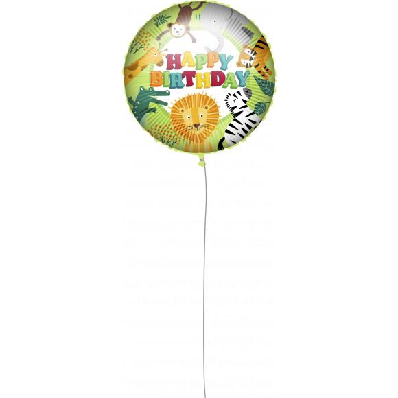 "AVA selection Folieballon ""Happy Birthday"" Jungle Ø 46cm"