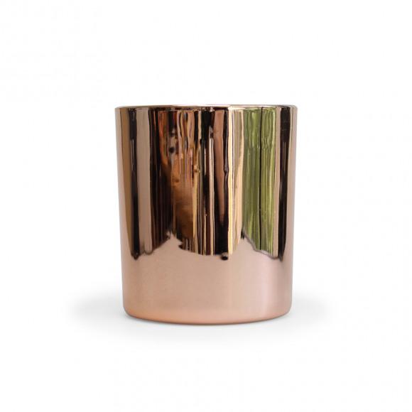 AVA selection Kaars In Glas Rose Gold H 10cm Ø 8cm Paars/Roze