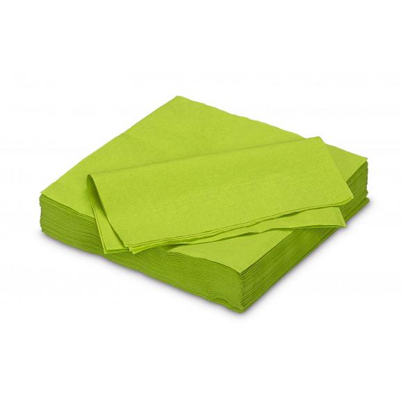 FIESTA Serviette Cocktail Green Tea Uni En Papier 25x25cm 50 Pièces Vert