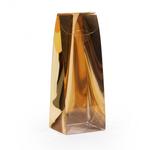AVA selection Tasje Hoog Mica Transparant + Rug Goud 5x4x13cm 12 Stuks Andere
