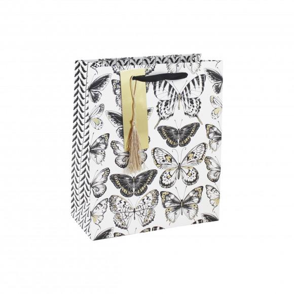 AVA selection Everyday Sachet Cadeau Papillons Noirs 21,5x10,2x25,3cm