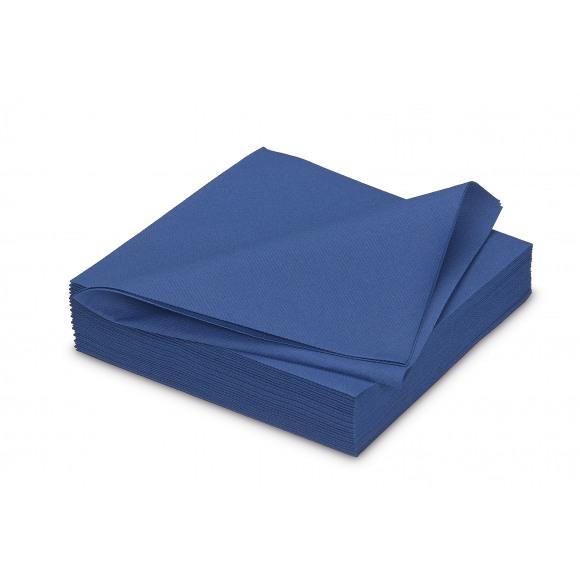 GALA Serviette Dîner Uni Royal Blue Sensation De Lin 40x40cm 25 Pièces Bleu