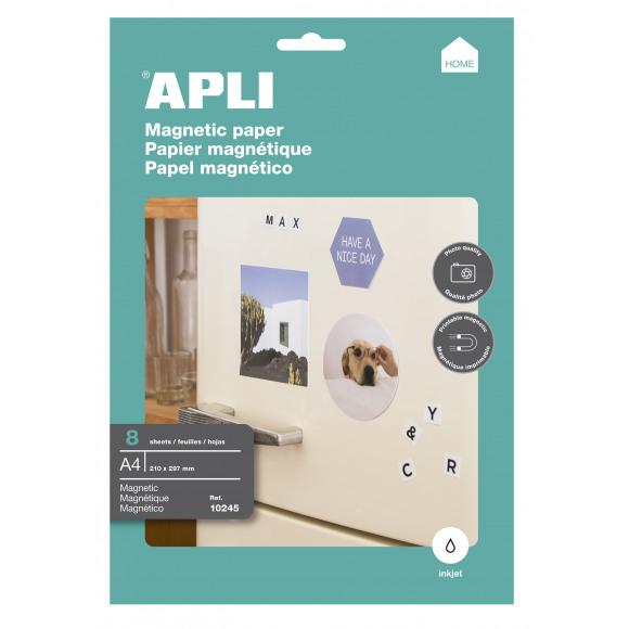 APLI Papier Magnétique 640g/m² 8 Feuilles A4