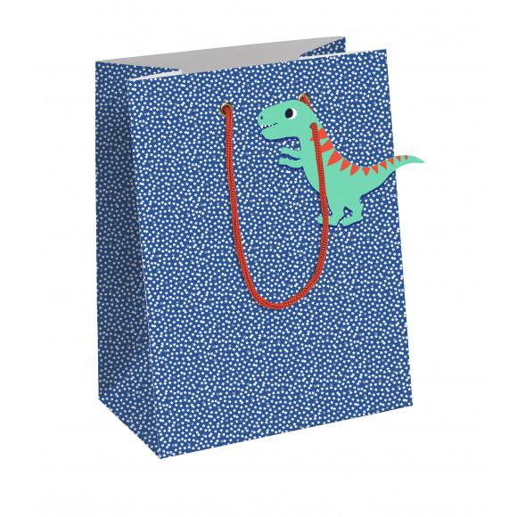 CLAIREFONTAINE Everyday Sachet Cadeau Bleu Dino 21,5x10,2x25,3cm Bleu