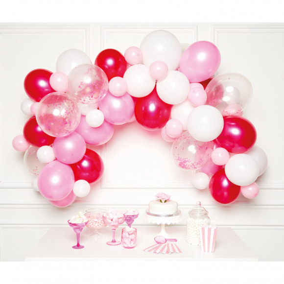 AVA selection DIY Ballonnenboog Roze (70 Ballonnen) Paars/Roze