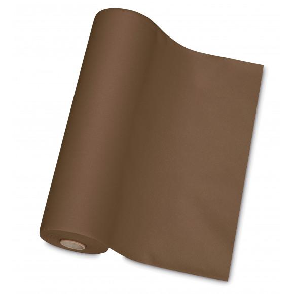 TABLESTAR chemin de table uni sensation de lin 30m x 40cm Brun