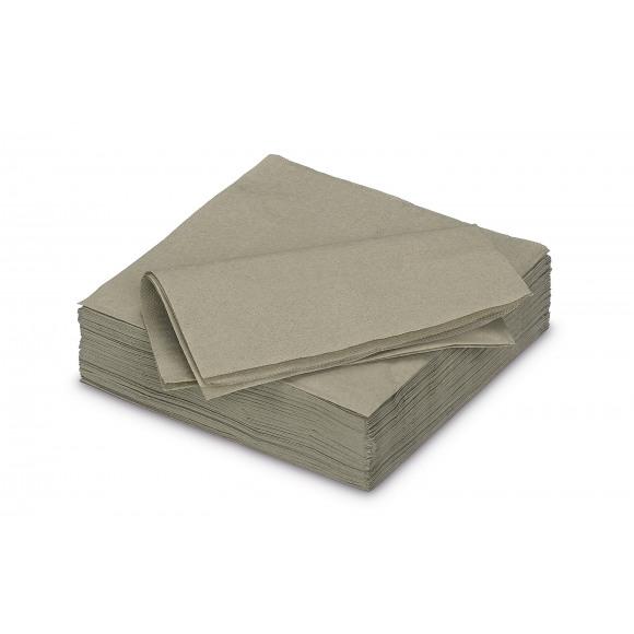 FIESTA Serviette Dîner Golden Grey Uni En Papier 40x40cm 50 Pièces Noir/gris