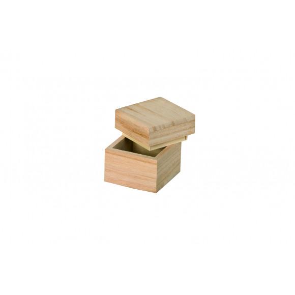 ARTEMIO Boîte En Bois Cube 5x5x5cm