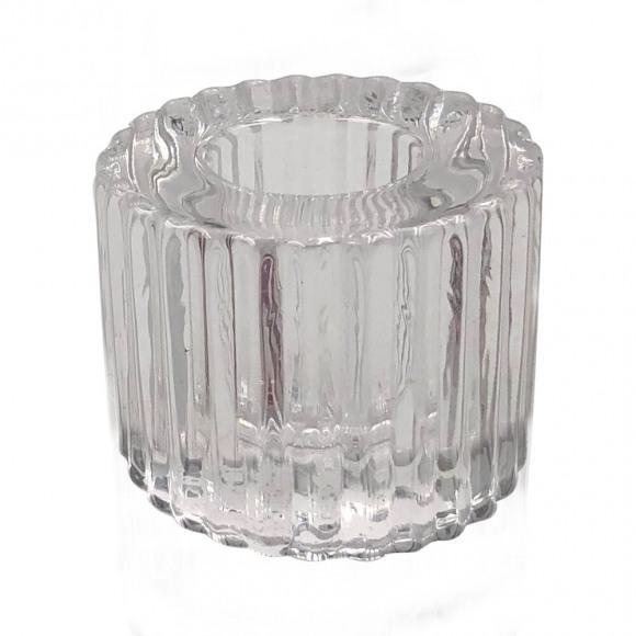 SPAAS Kandelaar Transparant Glas H 21cm Ø 1,5cm Voor Kaars Ø 1,5cm Andere