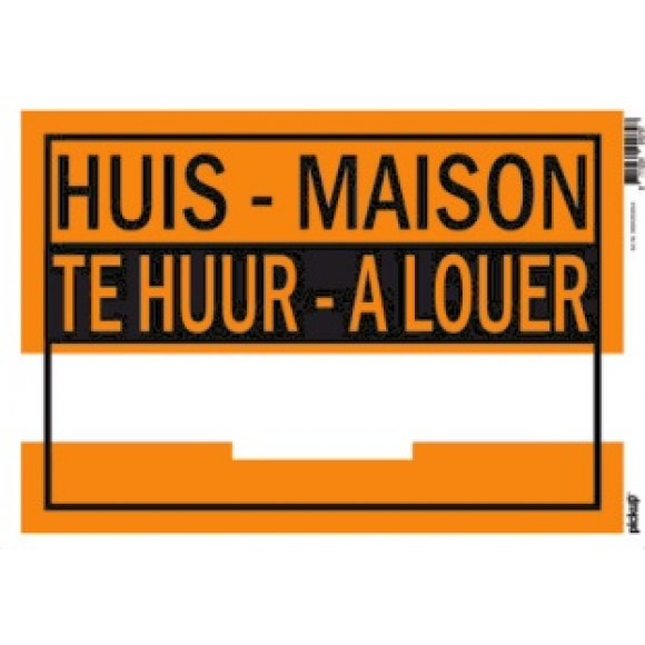 PICKUP Affiches 23x33cm Plastique - Huis Te Huur/Maison A Louer