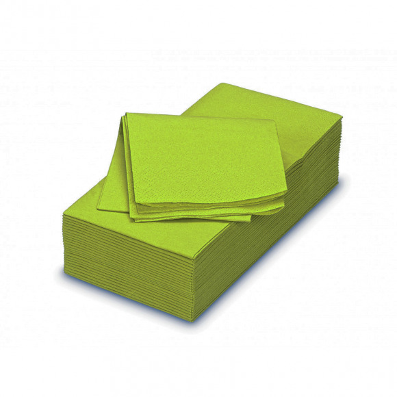 FIESTA Serviette Dîner Green Tea Uni En Papier Rectangulaire 40x40cm 50 Pièces Vert