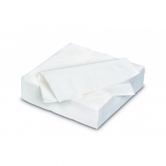 FIESTA Serviette Dîner White Uni En Papier 40x40cm 2 Plis 50 Pièces Blanc