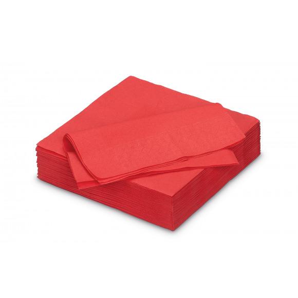 FIESTA Serviette Déjeuner Apple Red Uni En Papier 33x33cm 50 Pièces Rouge