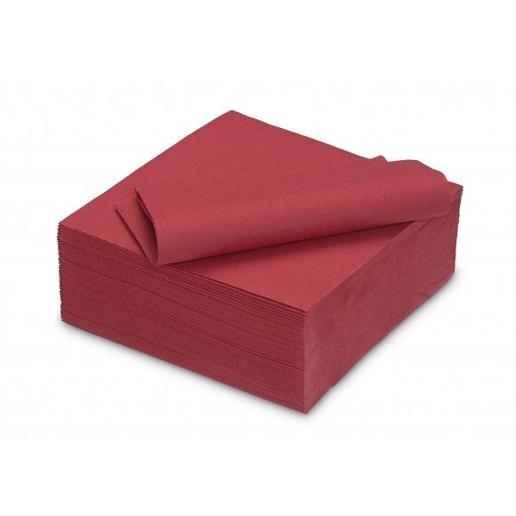 TABLESTAR serviette dîner unie sensation de lin carrée 40x40cm 50 pièces Rouge