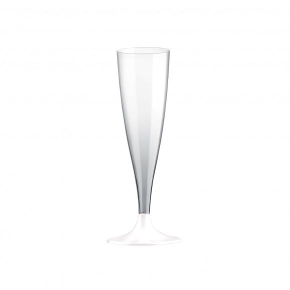 AVA selection Champagneglas Met Witte Voet Onbreekbaar Transparant 130ml 6 Stuks Andere
