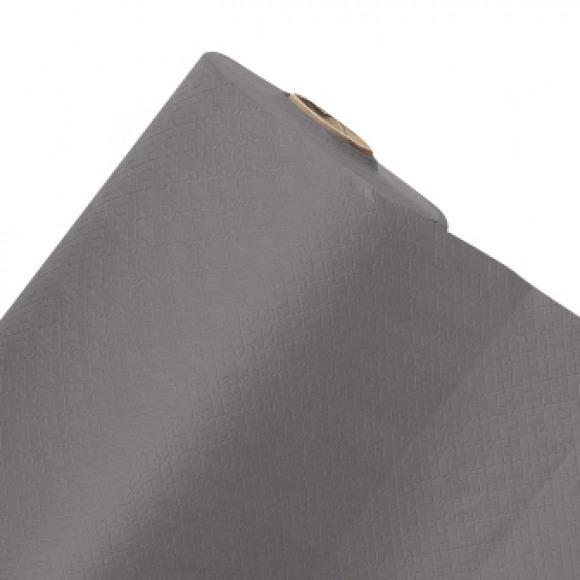 FIESTA Nappe En Rouleau Golden Grey Uni En Papier 50mx120cm Noir/gris