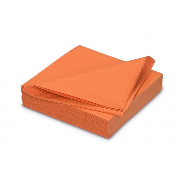 GALA Serviette Dîner Uni Orange Sensation De Lin 40x40cm 25 Pièces Orange