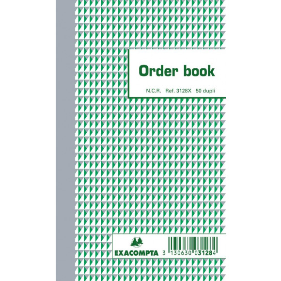 EXACOMPTA Orderbooks Ncr 175X105Mm 3128 Dupli2X50 Gelijnd