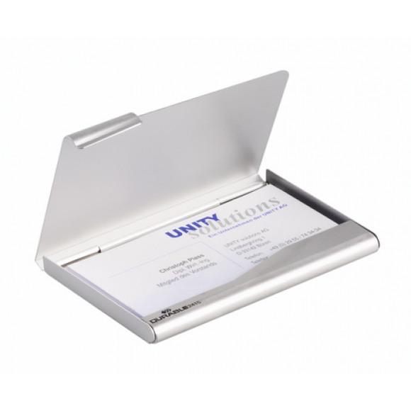 DURABLE Businesscard Box En Aluminium Pour 20 Cartes