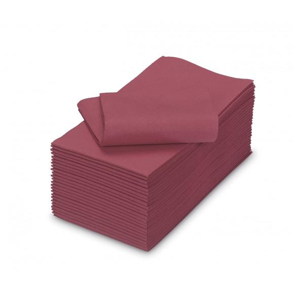 TABLESTAR serviette dîner uni sensation de lin rectangulaire 50 pièces Rouge