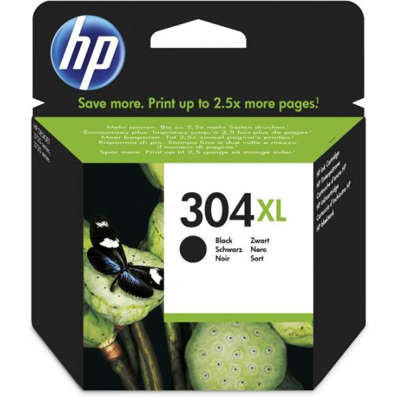 HP Cartridge 304XL Zwart Blister Zwart