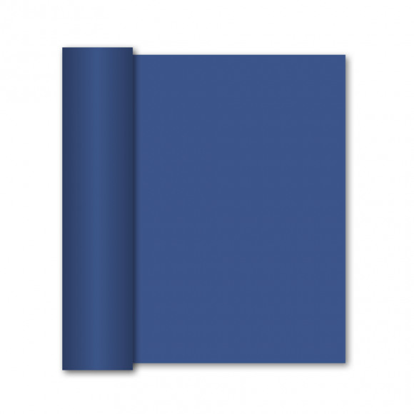 GALA Chemin De Table Uni Royal Blue Sensation De Lin 10mx40cm Bleu