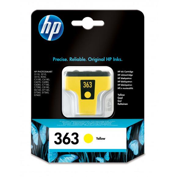 HP Cartouche 363 Jaune Jaune